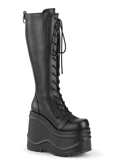WAVE-200 Knee High Platform Boots