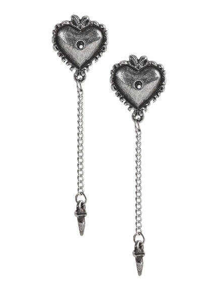 Witches Heart Earring Studs