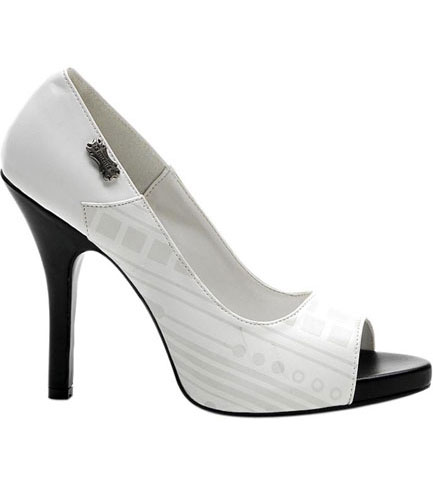 ZOMBIE-06UV White Stiletto Heels - Clearance