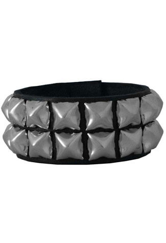 7 Black Leather Wristband
