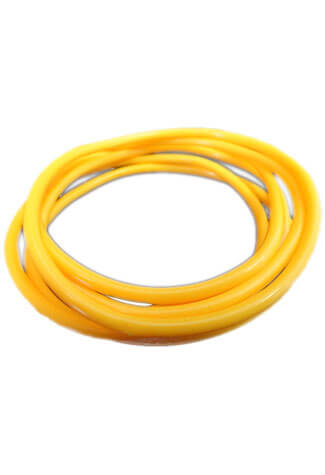 Yellow Rubber Bangle (Set of 6)