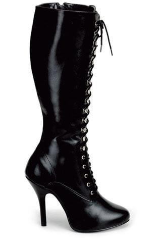 ARENA-2020 Black PU Boots