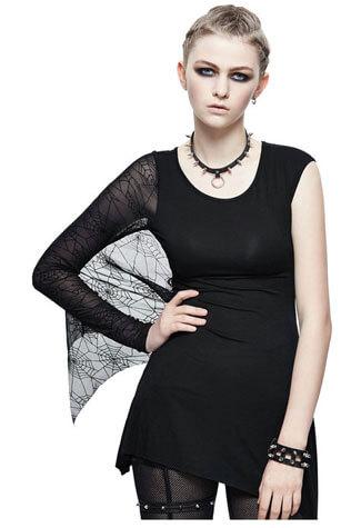 Black Lace Weaver Women's Top
