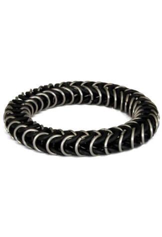 Silver Box Chain Wristband