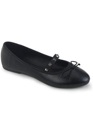 DRAC-07 black vegan leather flats