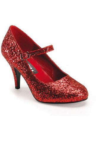 GLINDA-50G Red Glittered Heels