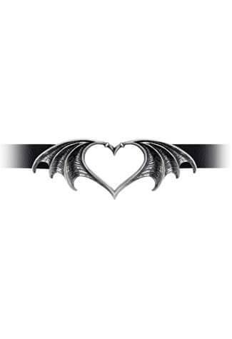 Nocte Amor bat-winged open-heart Choker
