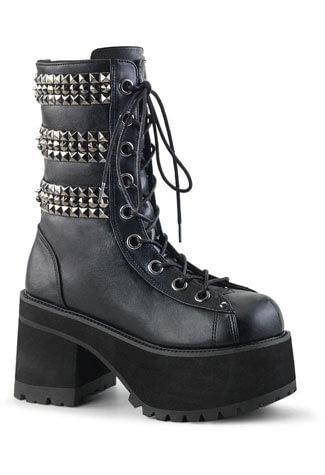 RANGER-305 pyramid studded boots
