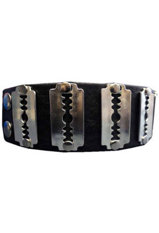 Razor Leather Wristband