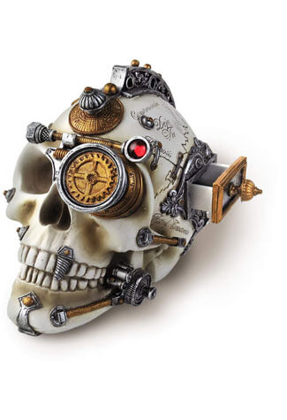 Erasmus Darwin's Steam-Cerebrum Skull