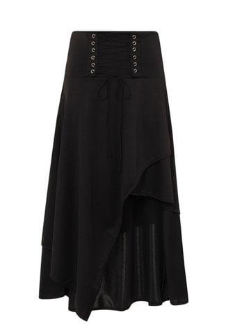 Milisha Gothic Lace Up Storm Skirt