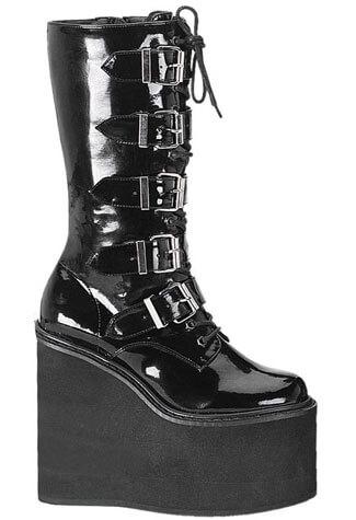 SWING-220 Black Platform Boots