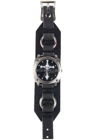 WB3R Black Leather Watchband