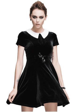 Wednesday Velvet Dress