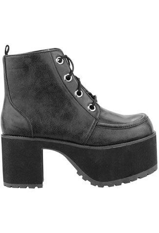 T.U.K. A8663L - Black Vegan Boots