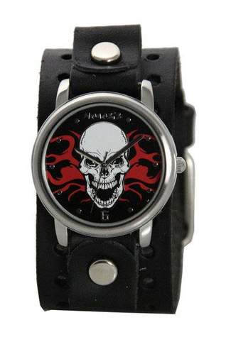 Skull with Flames Watch