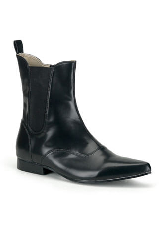 BROGUE-02 Black Beatle Boots
