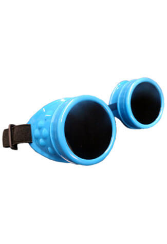 Plain Fluorescent Blue Goggles
