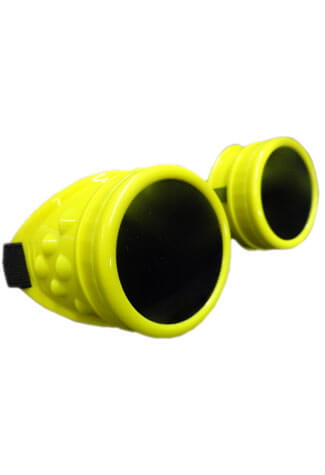 Plain Fluorescent Yellow Goggles