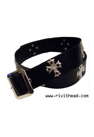 Florentine Cross Leather Belt