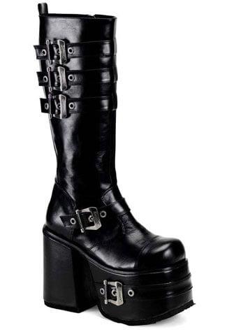 CHOPPER-101 Black Buckle Boots