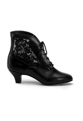 DAME-05 Black Victorian Boots