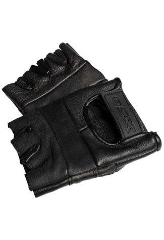 Plain Fingerless Leather Gloves
