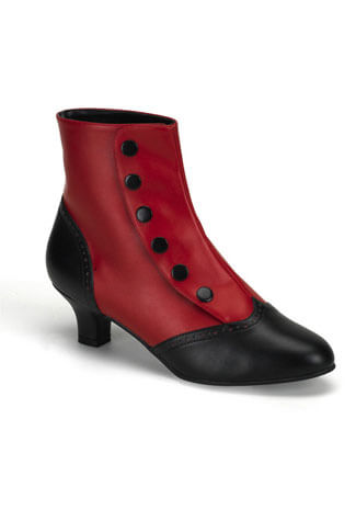 FLORA-1023 Red Victorian Boots