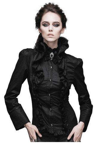 Mercy Long Sleeve Women's Gothic Shirt