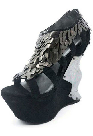 MONIQUE Black Sandal Platform