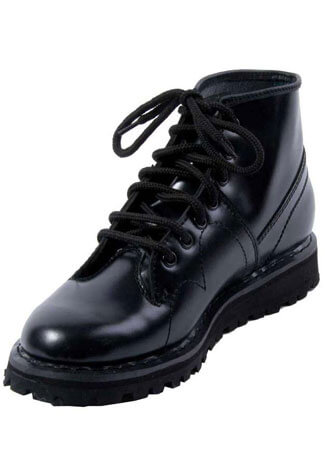 MONKEY BOOT-102 Black Laceup Boots - Clearance