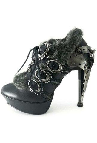 MORGANA Black Steampunk Stilettos