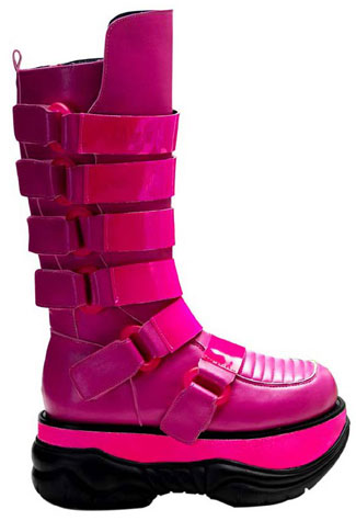 NEPTUNE-310UV Hotpink Cyber Boots