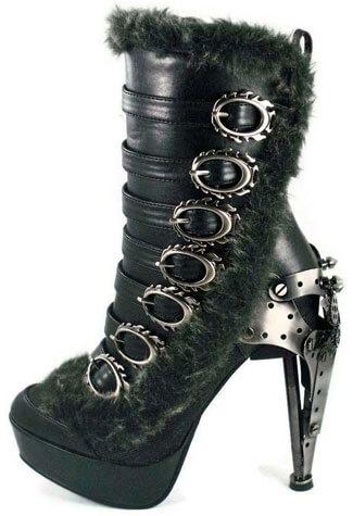 POLARO Black Buckle Boots