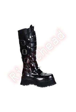 RAVAGE-II Black Zipper Boots