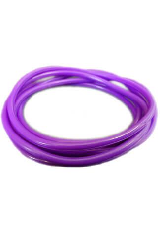 Purple Rubber Bangle (Set of 6)