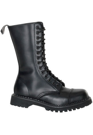 ROCKY-14 Black Leather Boots
