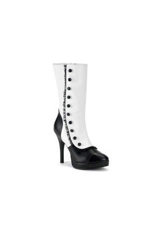 SPLENDOR-130 Black White Boots