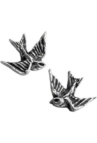 Swallow Earrings Studs