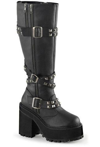 ASSAULT-203 Black Vegan Boots