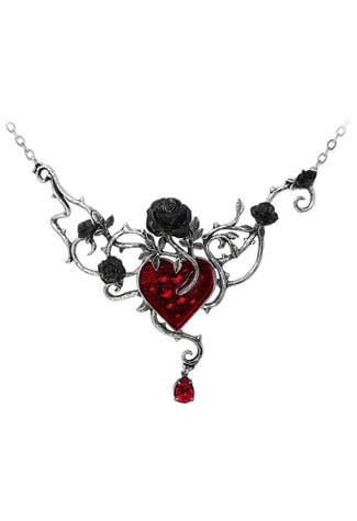 Bed Of Blood-Roses Necklace
