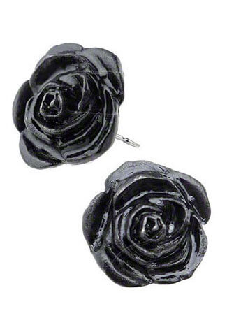 Black Rose Earing Studs