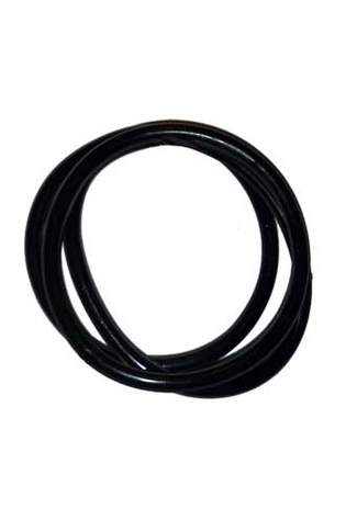 Black Rubber Bangle (Set of 6)