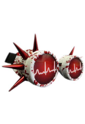 Blood Splatter Cyber Goggles
