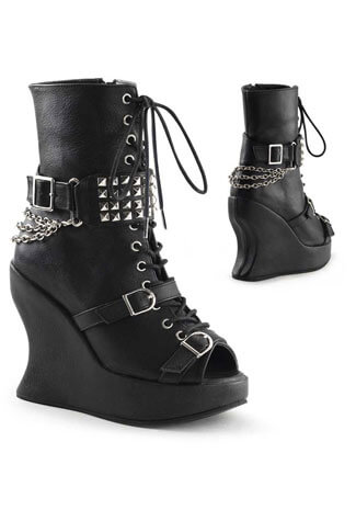 Bravo-89 Black wedge boot