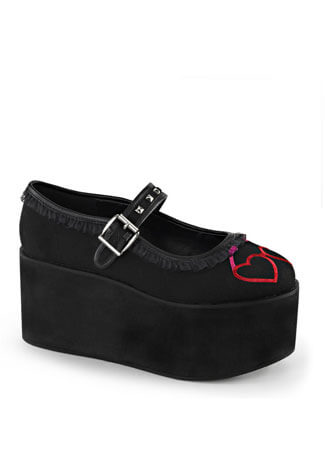 CLICK-02 Hearts Platform Shoes