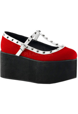 CLICK-07 White Red Platforms
