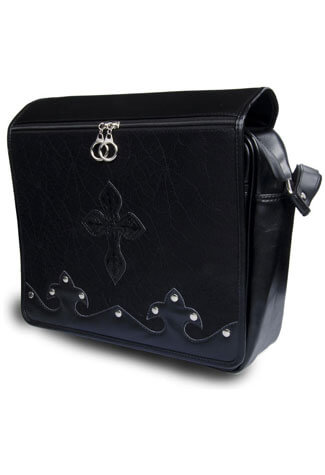 Black Cobweb Messenger Bag