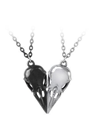 Coeur Crane Double Pendant Necklace