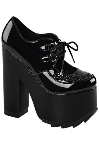 CRAMPS-01 Black Patent Platforms